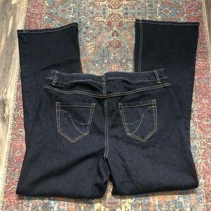 Lane Bryant plus size dark wash boot cut jeans